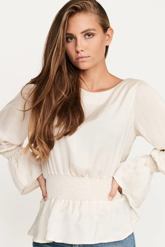 Dry Lake Lisa Blouse Creme Satin