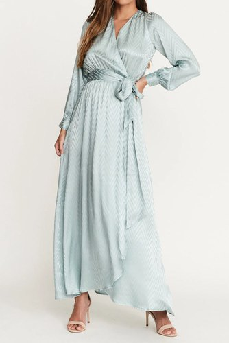 Dry Lake Sharon Long Dress Mint Green