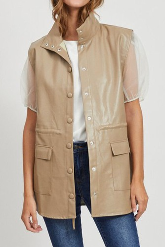 Vila Viamana Long Vest Dusty Camel