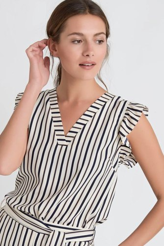 Dry Lake Lova Blouse White Stripe