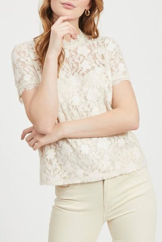 Vila Vicoralia S/s Top/dc Cloud Dancer