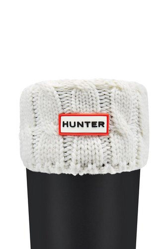 Hunter Hunter 6 Stitch Short Soc Natural White