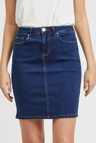 Vila Vicommit Felicia Short Med. Blue Denim