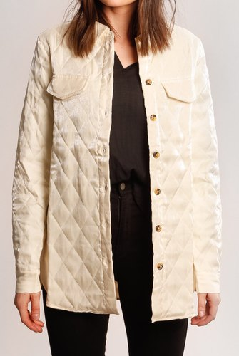 Vila Viamora Shirt Jacket Whisper White