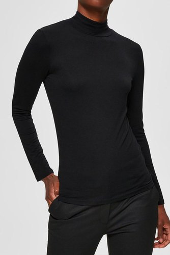 Selected Femme Sfmio Ls High Neck Black