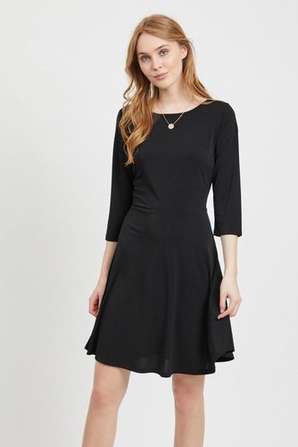 Vila Viclassy L/s Detail Dress Black