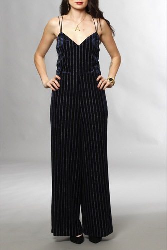 Vila Viastra S/l 7/8 Jumpsuit Total Eclipse