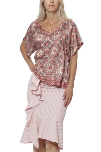 Odd Molly Honey-coated S/s Blouse Light Mahogny