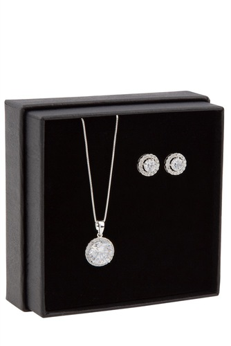 Snö of Sweden Gift Neck Set Lex Silver Clear