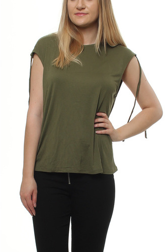 Vigira S/l Detail Top Ivy Green