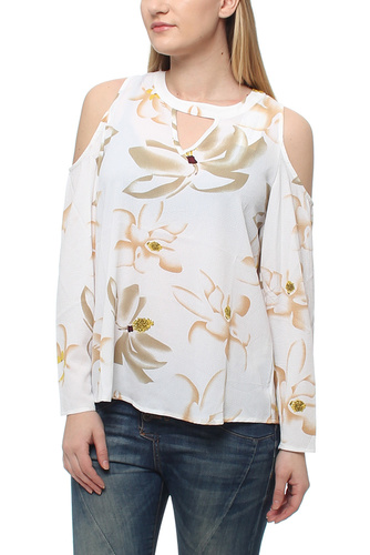 Siri Open Shoulder Blouse Creme