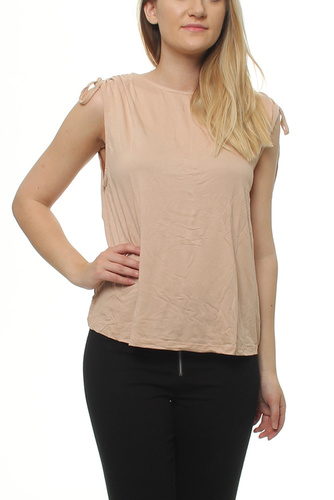 VIGIRA S/L DETAIL TOP RUGBY TAN
