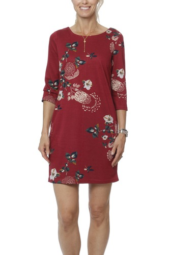 Vila Vitinny New Dress-lux Earth Red