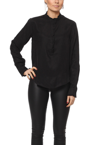 Rut & Circle PAULINE BLOUSE ANTRACITE