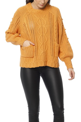 Odd Molly Good Fellow Sweater Apricot Tan