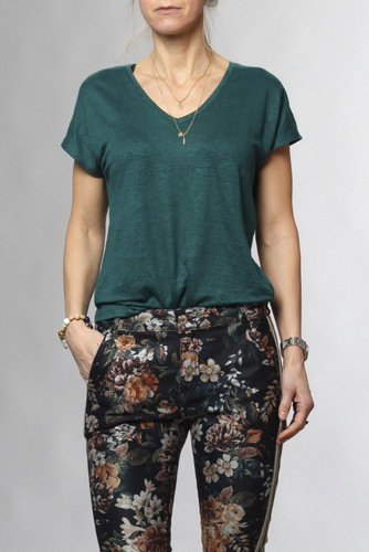 InWear Faylinn V T-shirt Warm Green