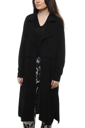 Delia Long Trench Black