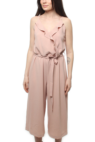 Delia Frill Jumpsuit Dusty Pink