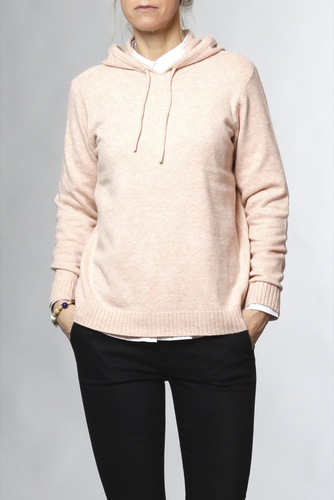 Vila Viril L/s Hoodie Knit-fav Smoke Rose