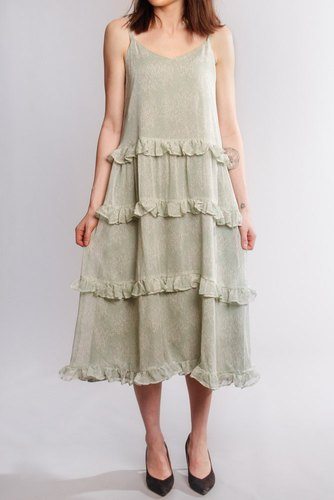 YAS Yasalice Strap Midi Dress Misty Jade