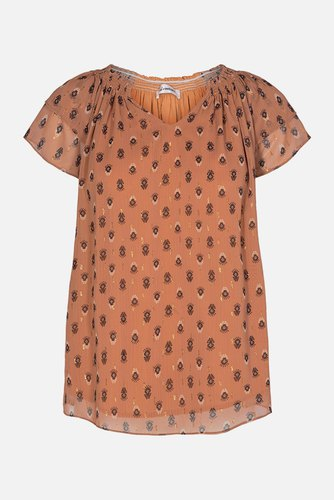 CO'COUTURE Moni Sunrise Top Cantaloupe