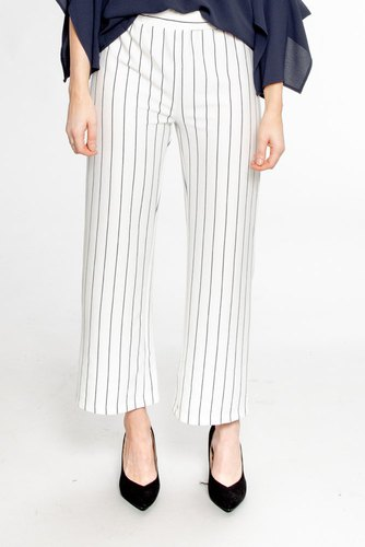 Rut & Circle Culotte Stripe Pant White/black