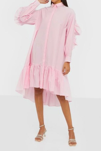 YAS Yasdanola Ls Midi Shirt Dress Cradle Pink