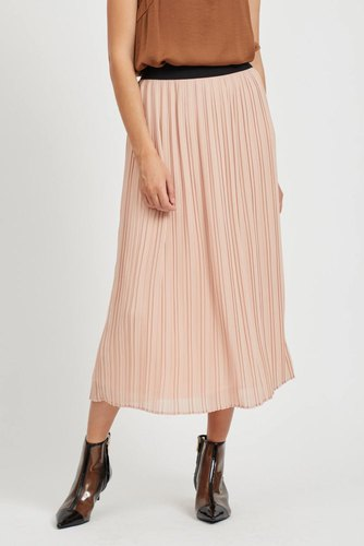 Vila Vitysha Plisse Skirt Rose Smoke