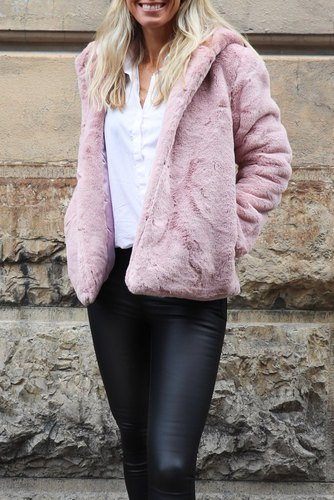 Zmillas Fur Coat W Hood Pink