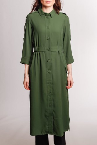 YAS Yasverda 3/4 Midi Dress Greener Pasture