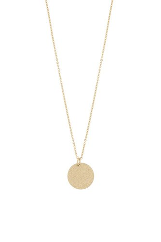 Snö of Sweden Lynx Small Coin Pendant Plain Gold