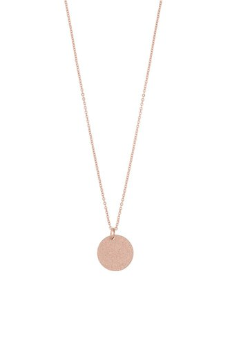 Snö of Sweden Lynx Small Coin Pendant Plain Rose