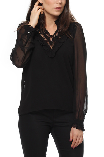 Vila VIROSALEE L/S TOP BLACK