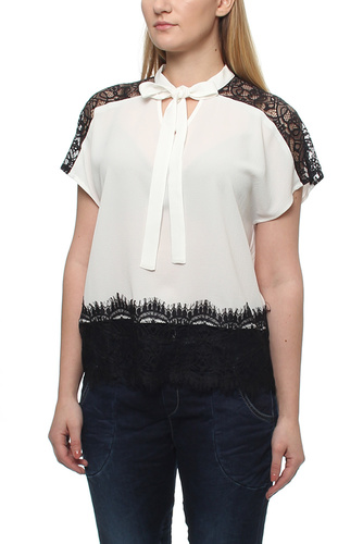 Maisy Ss Blouse White/black