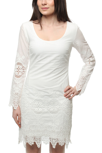 DAY DREAMING SLEEVE DRESS WHITE