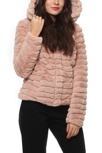 Vila VIMAYA FAUX FUR JACKET/GV PEACH WHIP