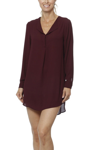 Vila Vilucy L/s Tunic-noos Winetasting