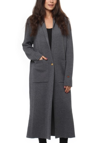 Busnel CAREL COAT GREY STRIPE