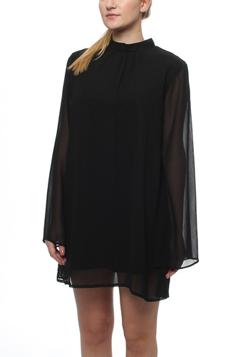 AMANDA OPEN SLEEVE DRESS BLACK