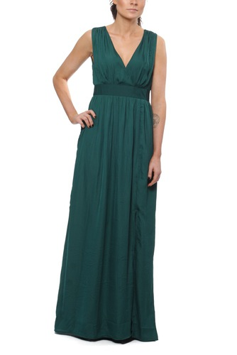 Dry Lake Callie Long Dress Dark Green