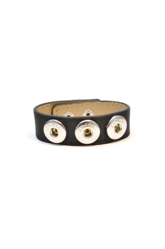 BRACELET SINGLE LEATHER BLACK