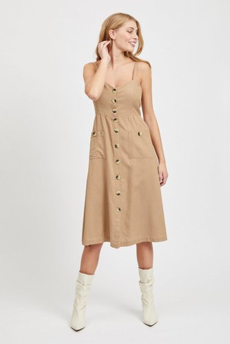 Vila Vikaluna Dress Tb/ki Soft Camel