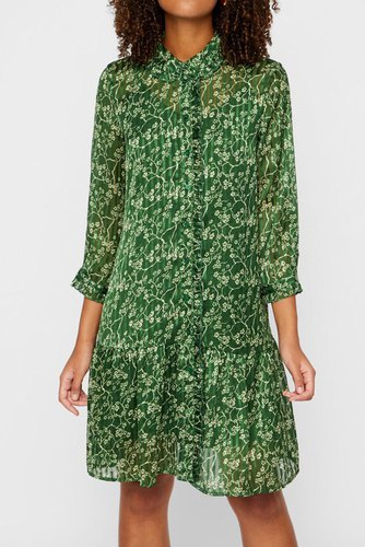 YAS Yasvista 3/4 Shirt Dress Greener Pasture