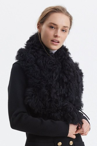 Busnel Carpi Fur Collar Black