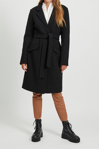 Vila Vivicki Wool Coat Black