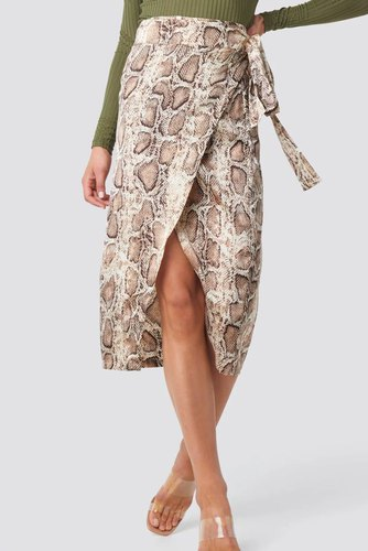 Rut & Circle Izabel Skirt Beige Snake