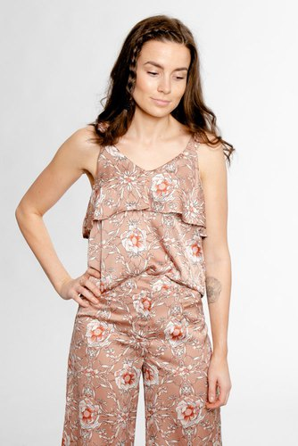 Rut & Circle Flower Print Frill Top Flower Comb