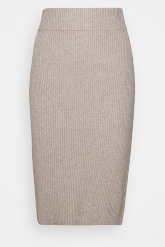Vila Viril Pencil Knit Skirt Simply Taupe