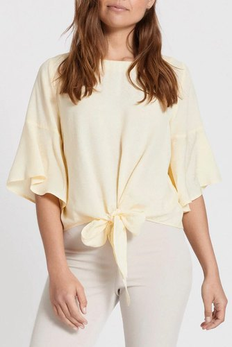 Dry Lake Ara Blouse Yellow Jacquard
