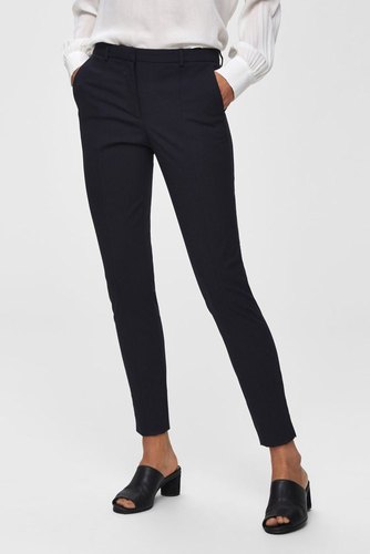 Selected Femme Slfmuse Fie Cropped Pant Dark Sapphire